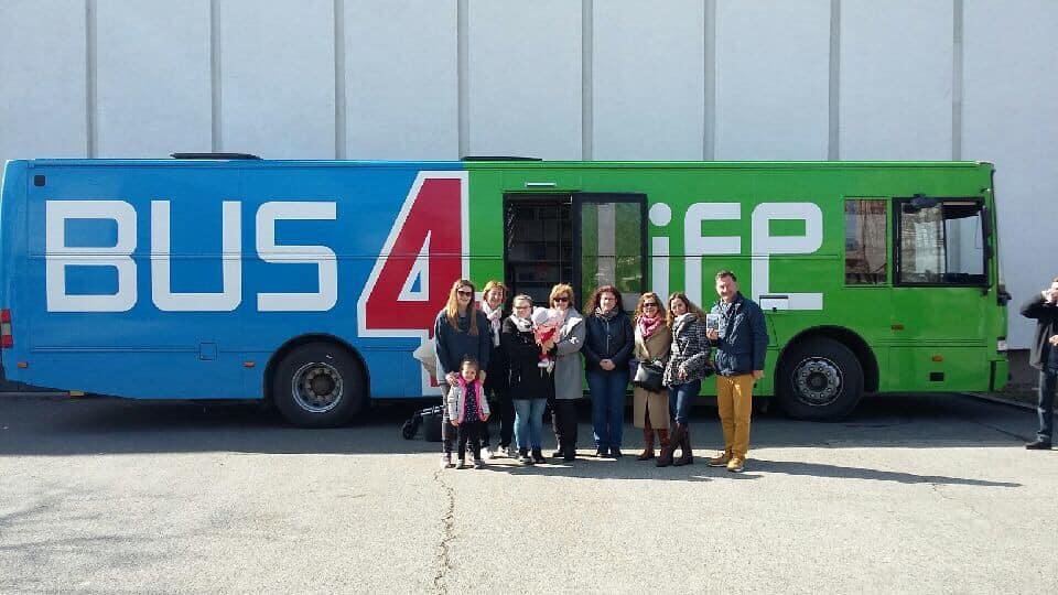 Speciális busz: az abortuszmegelőzésre hívtuk fel a figyelmet